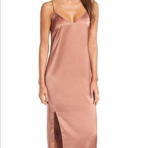Pink Midi Slip Dress